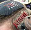 Arici de prins parul tru barber logo rosu