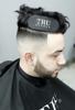 Arici de prins parul tru barber logo alb