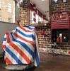 NISH MAN  - Pelerina frizerie/coafor Guler NEOPREN - Barber pole F4