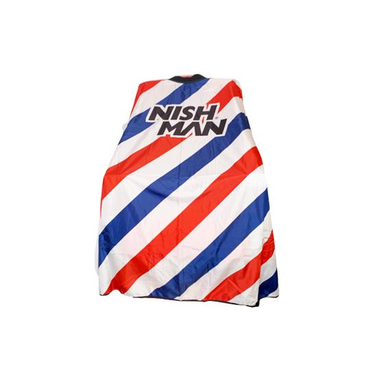 NISH MAN  - Pelerina frizerie/coafor Guler NEOPREN - Barber pole F1