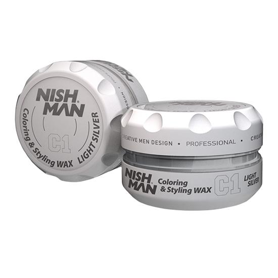 NISHMAN C1 - Ceară de păr colorată - Argintiu - 150 ml F1