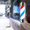 Reclama luminoasa frizerie M318AD5 barber pole