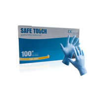 SAFE TOUCH - Manusi profesionale latex - Albastru - S