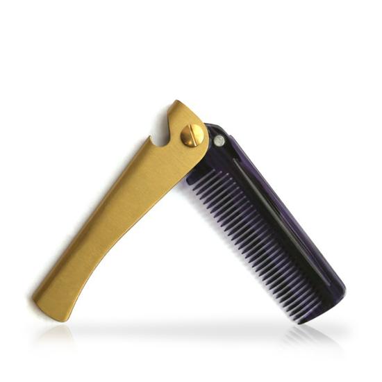 Pieptene  barba / mustata - Auriu
