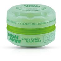 NISH MAN C6 - Ceara de par colorata - Verde - 150 ml