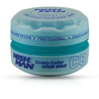 NISH MAN C8 - Ceara de par colorata - Albastra - 150 ml