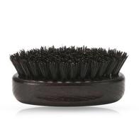 Perie ovala pentru barba cu maner din lemn - Neagra