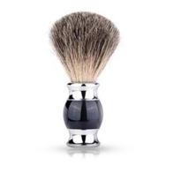 Pamatuf pentru barbierit - Negru / Argintiu