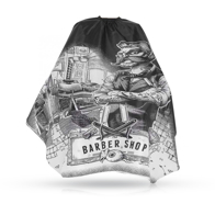 Pelerina frizerie/barbershop cu imprimeu Barber