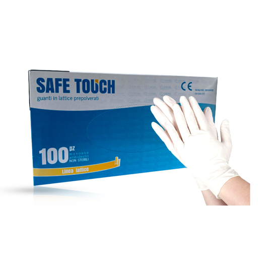 SAFE TOUCH - Manusi profesionale latex - Alb - S